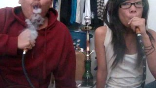 Asian Babe Mastering Hookah Rings