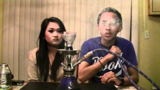 Asian Girlfriend Teaching Hookah