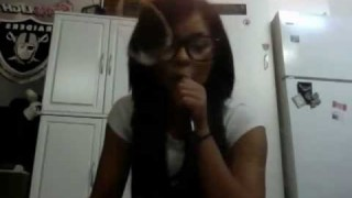Hot Nerdy Chick Smoking O's