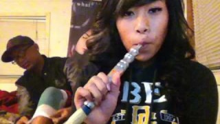 Gangster Chick Smoking Shisha