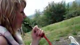 Glamorous Teens Puff Shisha in the Forest